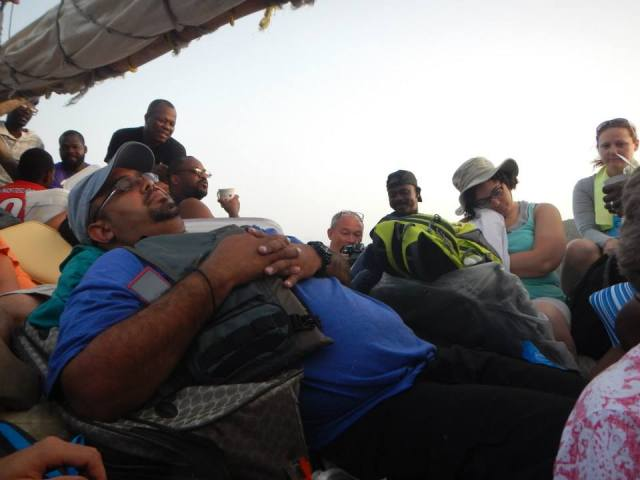 4 hour boat ride on wooden boat from the mainland of Haiti to the island of La Gonave